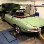 willow green jaguar e-type