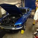 69 Mustang rolling road 2