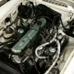 MGC rolling road engine bay
