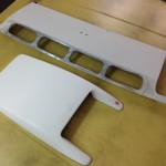 Porsche 944 bonnet scoop and badge panel