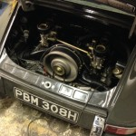 1968 porsche 911 engine bay
