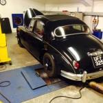 Jaguar Mk1 rolling road 2
