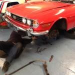 Triumph Stag front end service