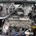 62 mk1 mini pickup engine bay with shorrock supercharger