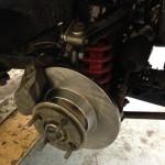 Triumph TR4 disc brakes