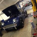 Triumph TR3A rolling road