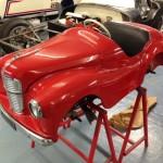 Austin J40 race preparation