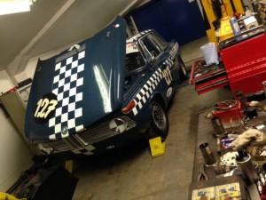 FIA BMW 1800ti rolling road 2