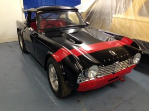 Griffiths FIA TR4 paint job