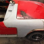 Lotus Elan Sprint fire damage restoration