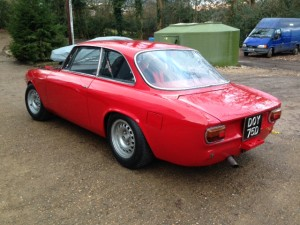 Alfa Romeo Giulia Sprint GT race preparation 2