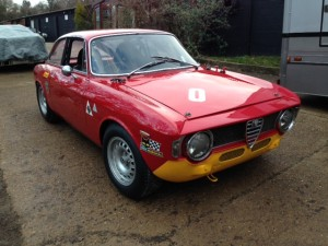 Alfa Romeo Giulia Sprint GT race preparation