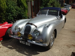 1949 alloy bodied Jaguar XK120 roadster