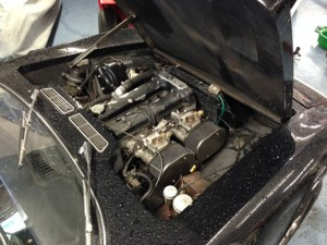 Julian Balme Lotus Elan plus 2 engine bay