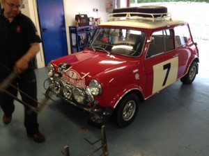 1968 Mk2 Mini Cooper S Works Rally replica Monte Carlo