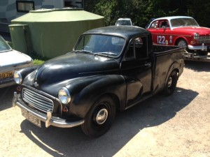 Morris Minor Pickup 1098 rolling road