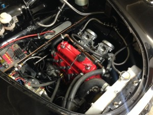 Steve Dunne Austin A35 race car engine bay