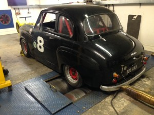 Steve Dunne Austin A35 race car rolling road tune