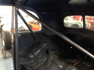 1938 BMW 320 Saloon rear roll cage 2