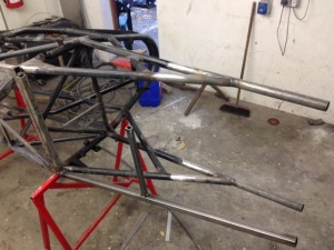 Jim Lee Racing Mantis FF1600 tubular chassis repair 2
