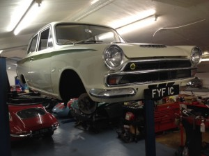 Mk1 Lotus Cortina service repair brakes clutch MOT