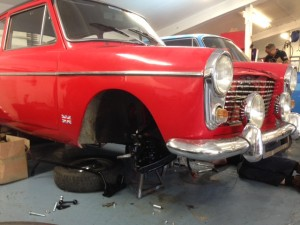 Austin A40 fast road Midget disc brake conversion