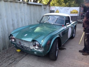 Triumph TR4 race preparation 2