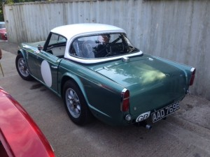 Triumph TR4 race preparation