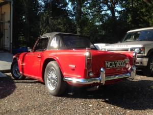 Triumph TR5 repair MOT