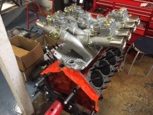 327 Chevy cross ram Weber race engine build