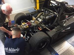 ADR Prototype Britcar Sports Racer rolling road