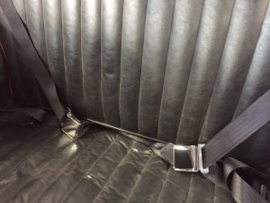 Austin A40 classic chrome buckle seat belts