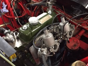 Austin A40 fast road LHD twin SU Mini manifold 2