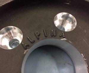 Group 2 BMW CSL Alpina Magnesium wheel centres