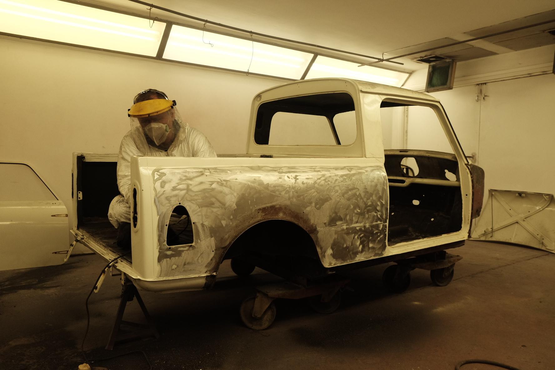 classic mini pickup restoration