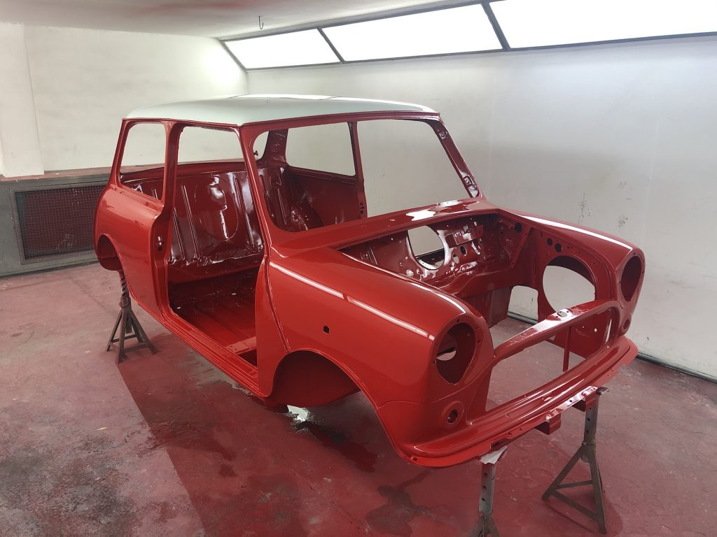 Classic Mini rally car build