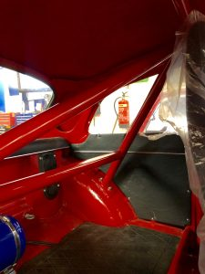 custom roll cage for Alfa Romeo Giulietta