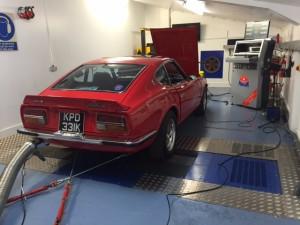 Datsun 240Z triple Weber rolling road tune