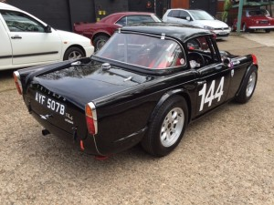 Dave Griffiths FIA Triumph TR4 race car cck historic 2