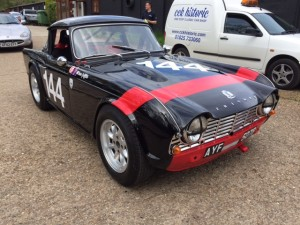 Dave Griffiths FIA Triumph TR4 race car cck historic