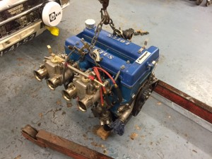 FIA Lotus Cortina twin cam engine