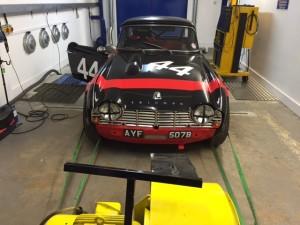 FIA Triumph TR4 rolling road tuning 2
