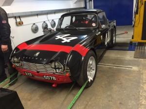 FIA Triumph TR4 rolling road tuning