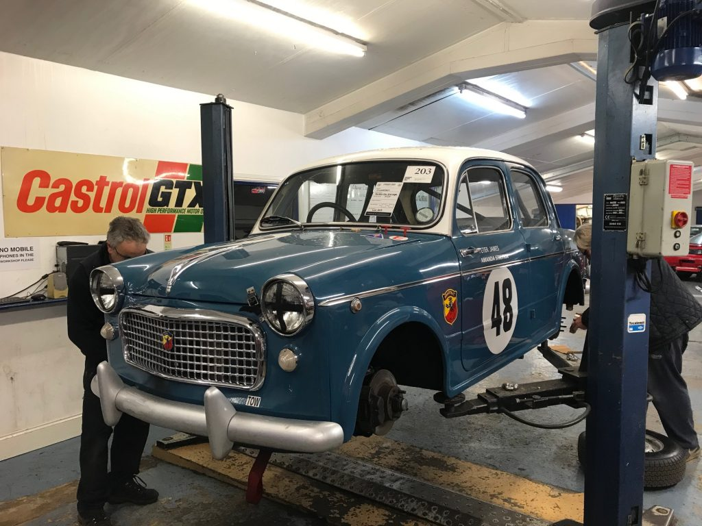 Race preparation of Fiat 1100