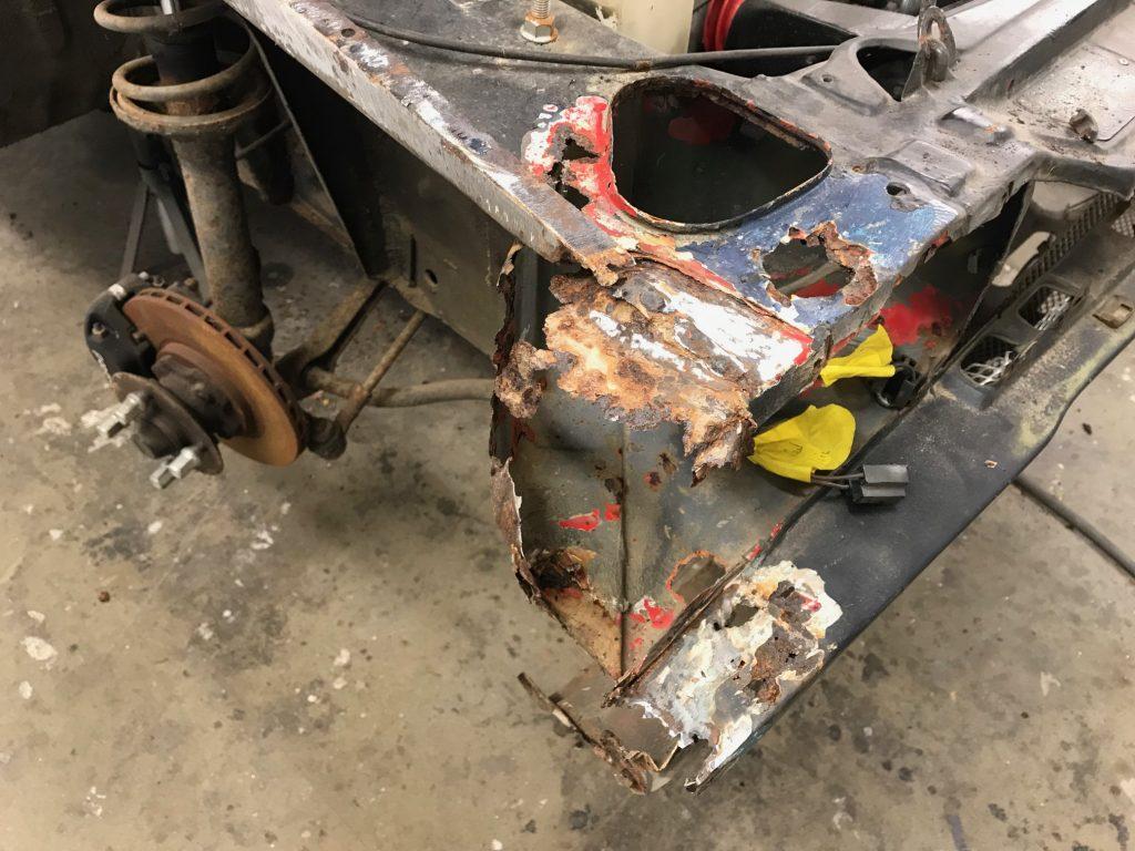 Ford Capri metal restoration
