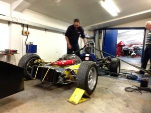 Ginetta G18 formula ford rolling road