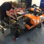 Ginetta G4 race car preparation Oulton Park Gold Cup