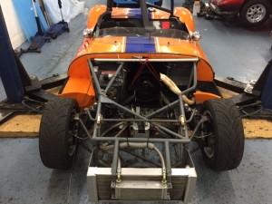 Ginetta G4 race preparation