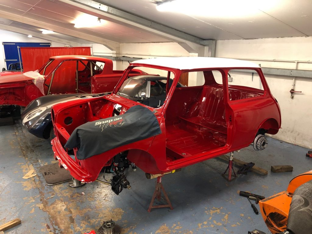 Group A Mini Cooper SPI rally car build