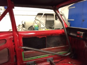 Hillman Avenger historic rally car roll cage fabrication 2